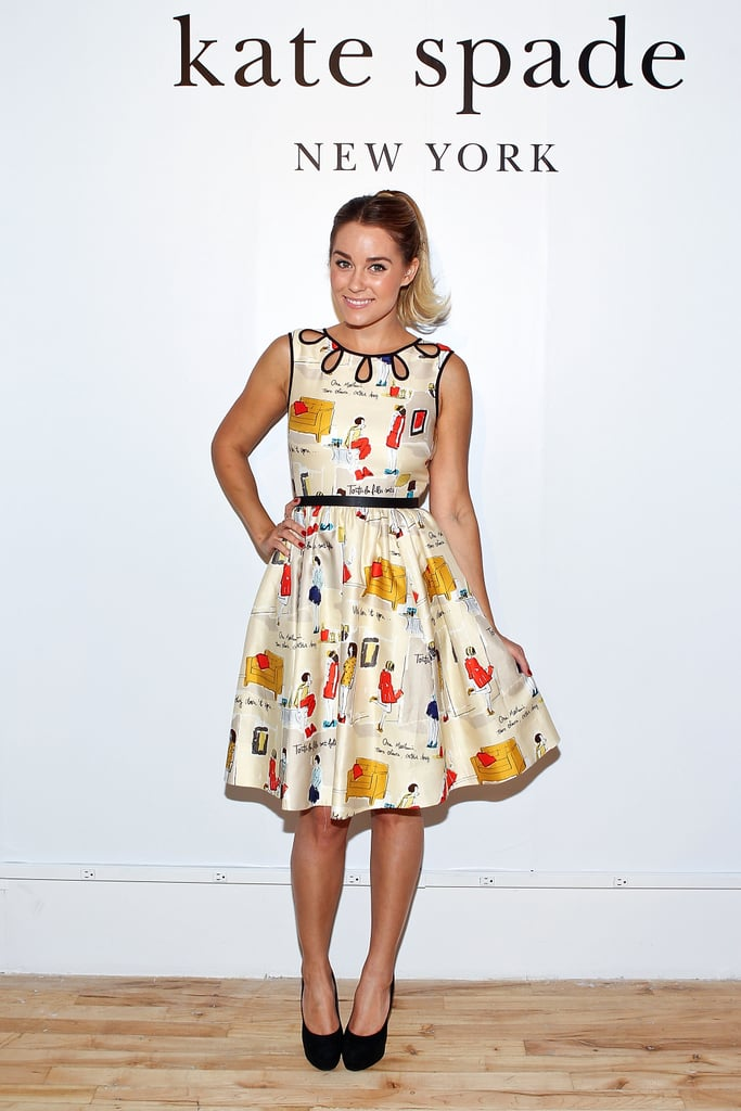 Lauren Conrad went to the Kate Spade presentation.