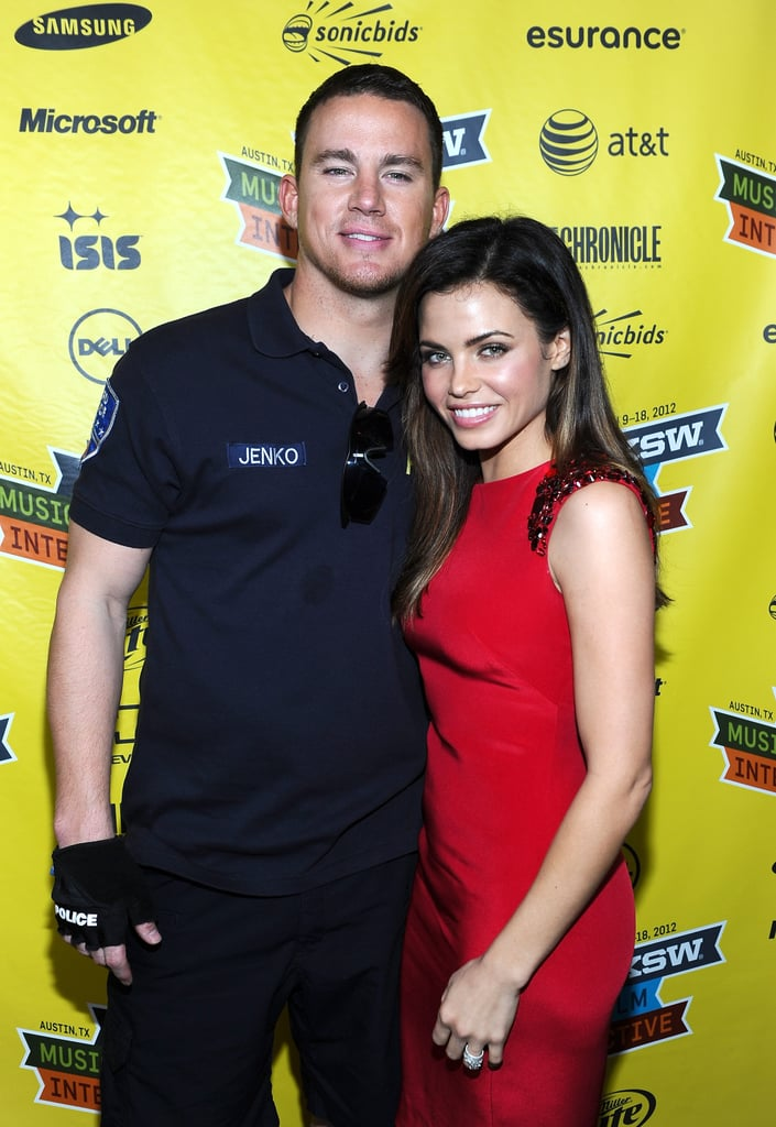 Channing Tatum and Jenna Dewan hugged at SXSW.