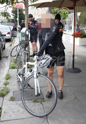 Picture of a Celebrity Biking in Los Angeles