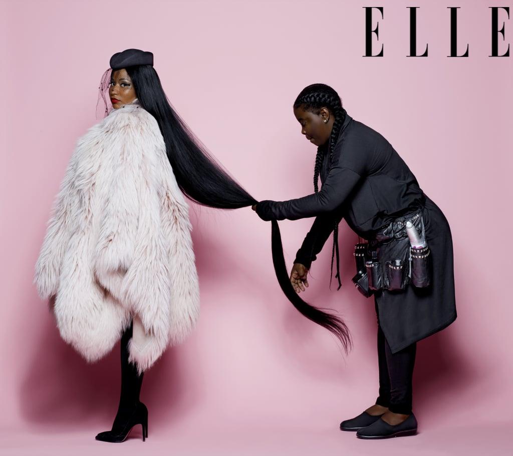 Nicki Minaj on the Cover of Elle July 2018