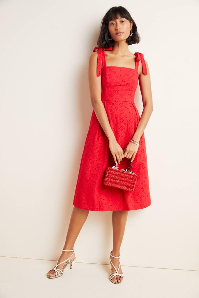 Kari Eyelet Midi Dress