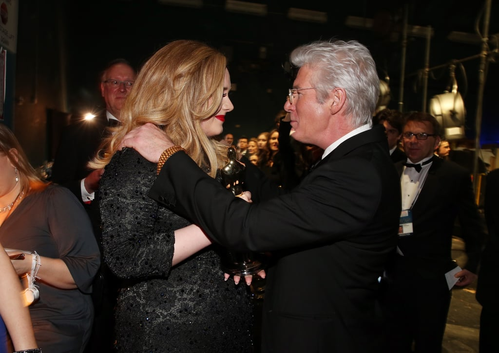Adele and Richard Gere backstage at the 2013 Oscars.