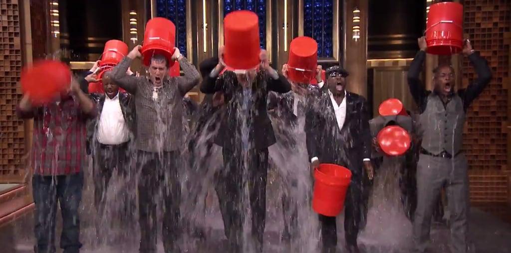 Justin Timberlake and Jimmy Fallon ALS Ice Bucket Challenge