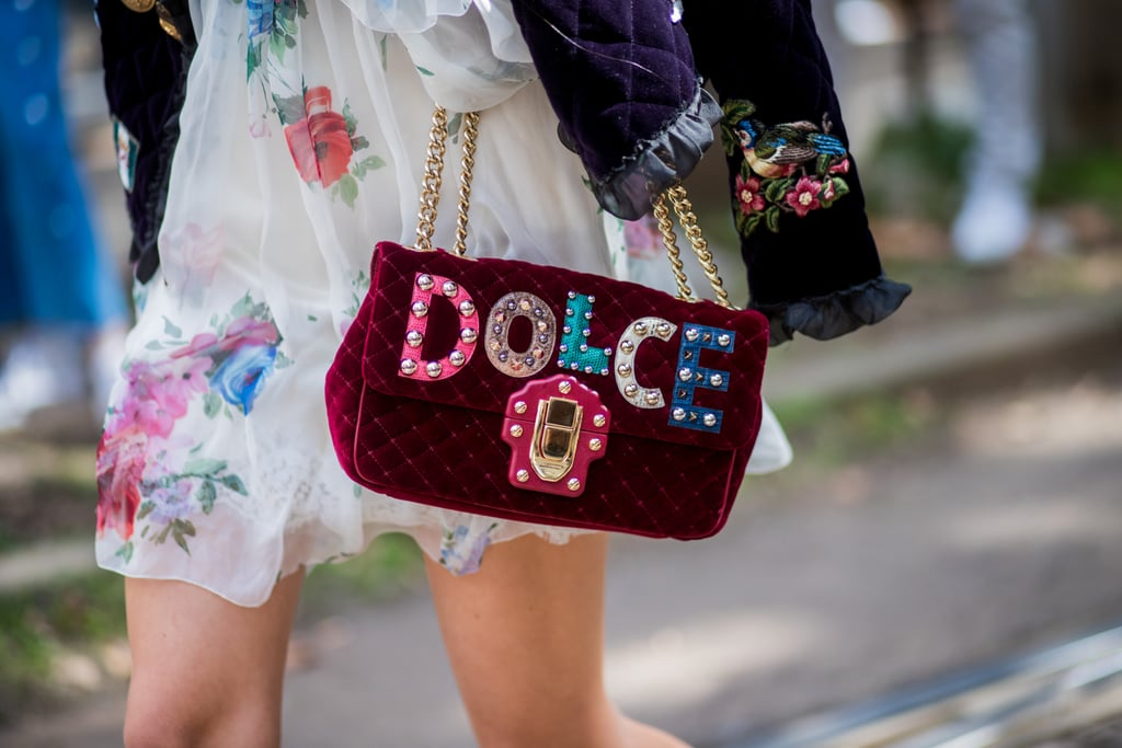 Make a Statement With an Embroidered Velvet Handbag