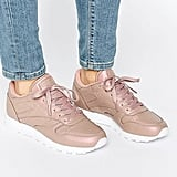 Reebok Classic Leather Sneakers in Rose Gold Pearl ($98)