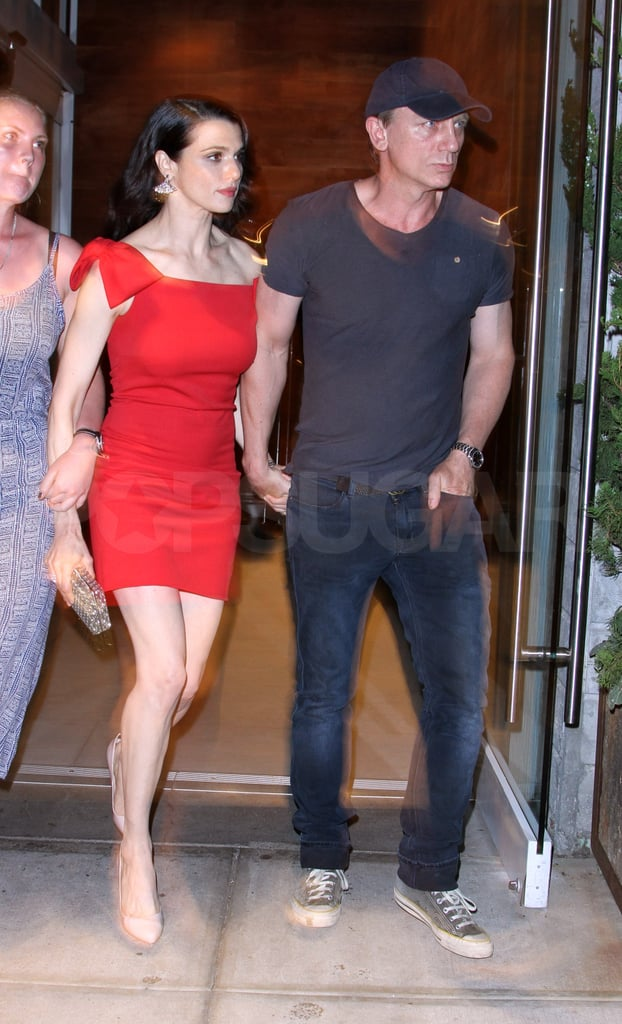 Rachel Weisz leaving The Whistleblower premiere with husband Daniel Craig.