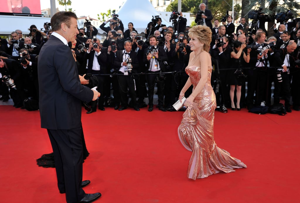 Jane Fonda had fun on the red carpet with Alec Baldwin at the opening of the Cannes Film Festival and premiere of Moonrise Kingdom.