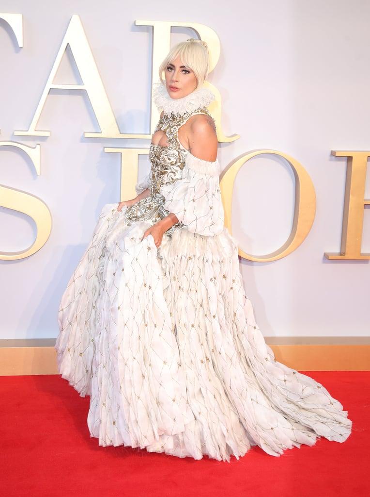 Lady Gaga Alexander McQueen Dress A Star Is Born Premiere