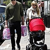 Chris Hemsworth and Elsa Pataky walked in London with India Hemsworth.