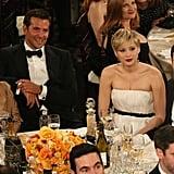 The American Hustle table was full of stars.  Source: Christopher Polk/NBC/NBCU Photo Bank/NBC