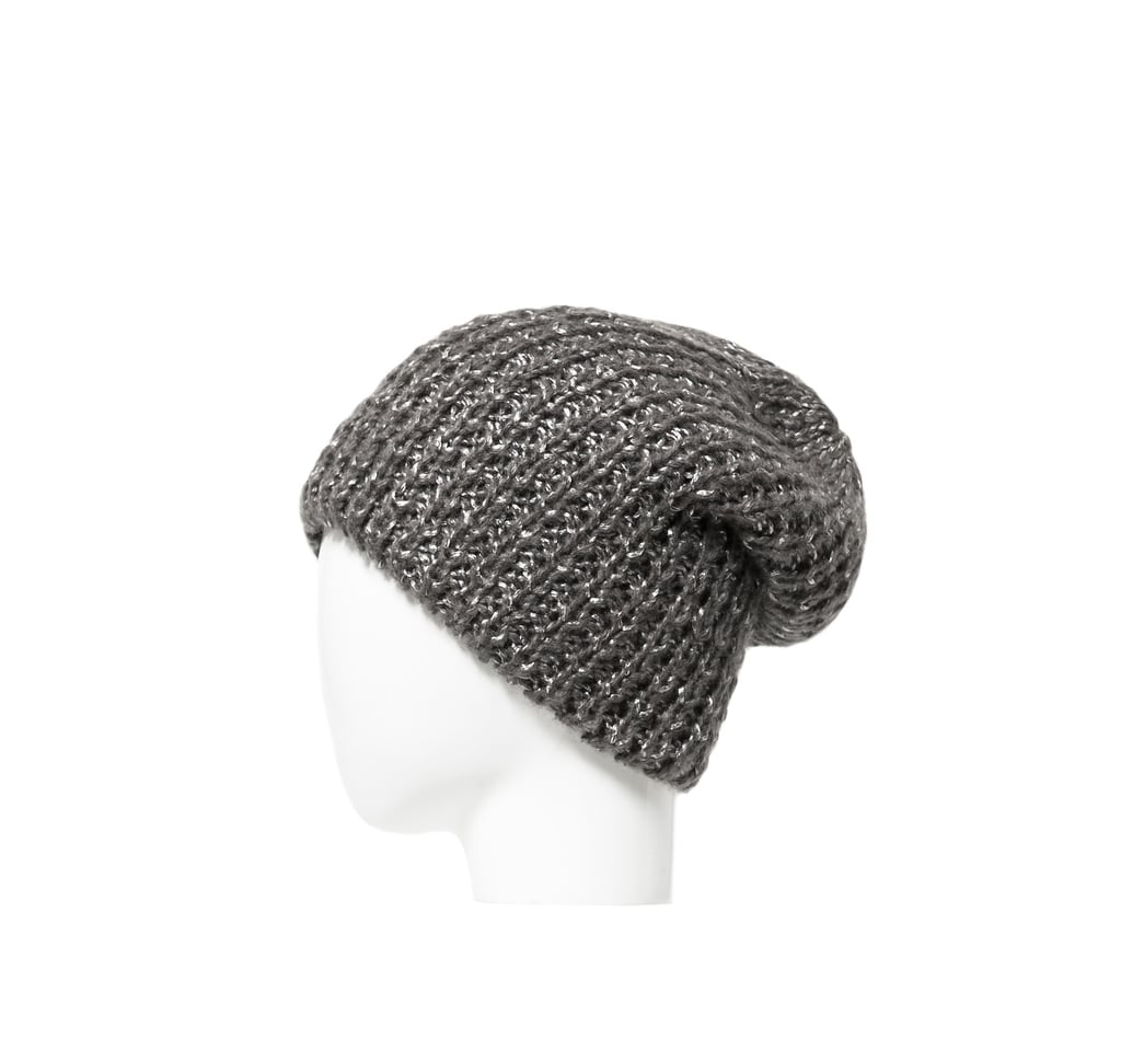 What's better than a hat? A hat that shimmers like this Zara Knit Hat ($15).