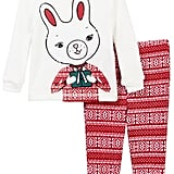 Joe Fresh Holiday Bunny Waffle Knit Pajama Set