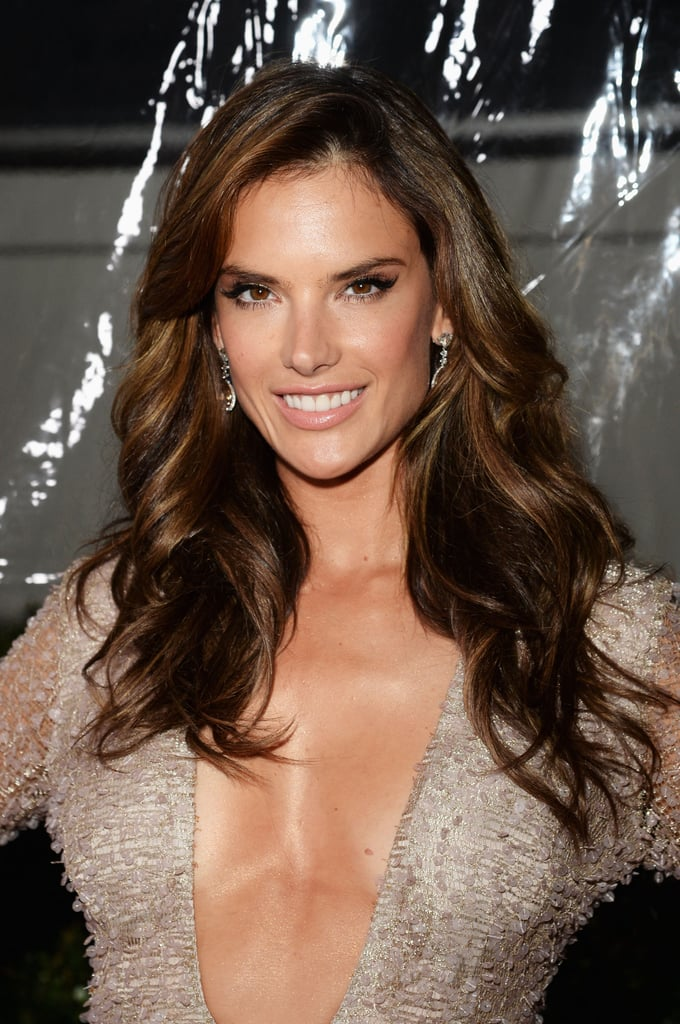Alessandra Ambrosio Celebrities With Balayage Hair Colour