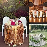 While colossal banquet seating for the bridal party is often the norm, sweetheart tables provide a more intimate alternative. Just think — you, your new spouse, and a moment to soak it all in while you try to eat something before it's time to get up again! POPSUGAR Home is offering up eight styling ideas for making your sweetheart table one to remember.