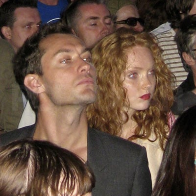 Jude Law at Lily Cole at Radiohead Concert