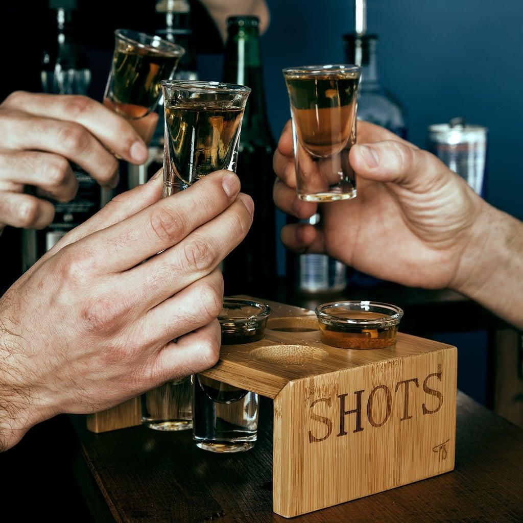 Trendy Bartender Shot Glass Holder Set