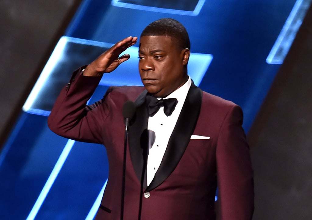 The entire crowd rose to their feet when Tracy Morgan stepped on stage at the Emmy Awards in LA on Sunday night. Last year, Tracy was in a major car accident that left him in critical condition, and he opened up about the experience for the first time in a Today show interview this past June. At the Emmys, he thanked his peers, his fans, and his family for their support. Watch his touching speech in the video below, then check out more Emmys coverage, including Jeffrey Tambor's thoughtful acceptance speech.