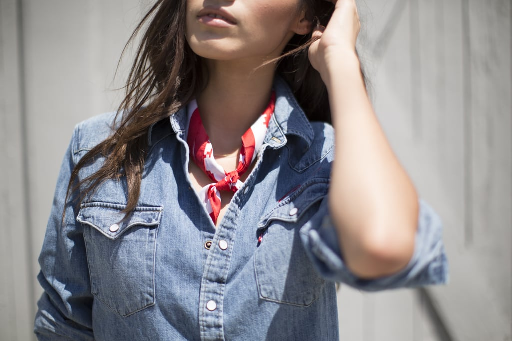 Finish your look with a bandana around your neck