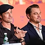 Brad Pitt and Leonardo DiCaprio at a Cannes Press Conference For Once Upon a Time in Hollywood