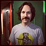Paul Rudd rocked his Anchorman 2 look for his spot on Conan. Source: Instagram user teamcoco