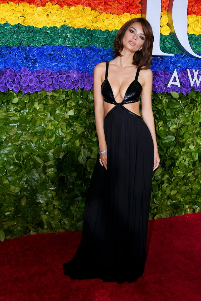 Emily Ratajkowski Black Dress at the Tony Awards 2019