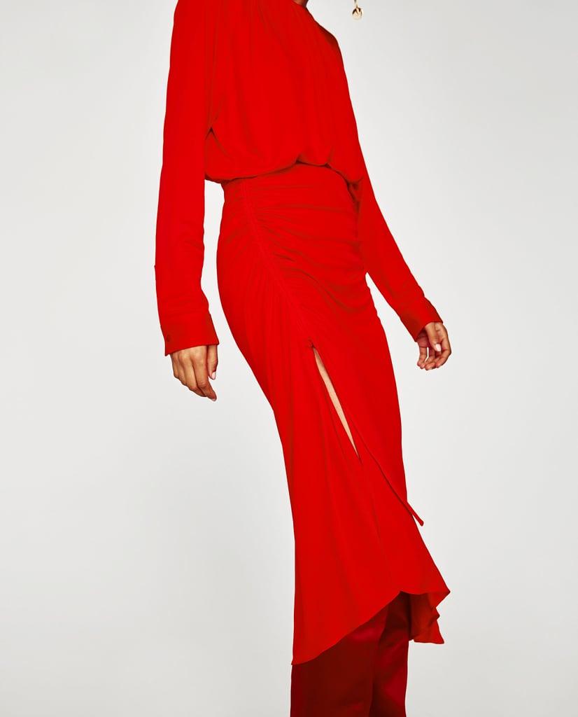 Zara Skirt With Gathered Sides