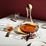 Glass Decanters With Wood Stoppers