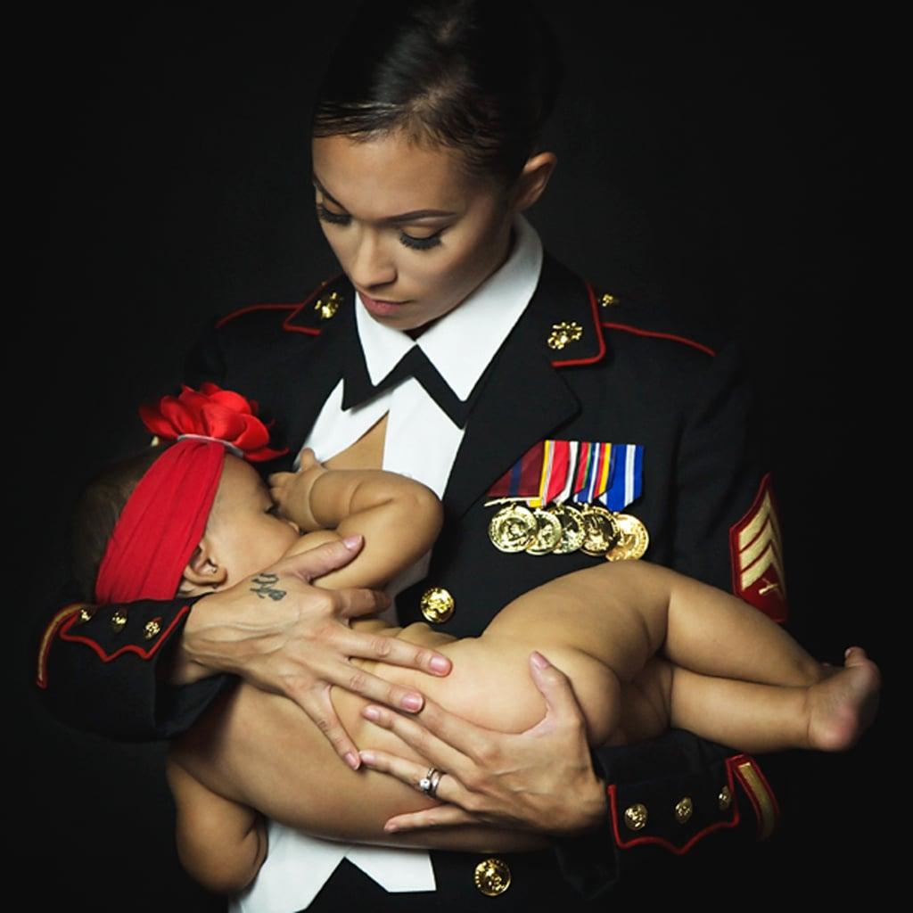 Breastfeeding Moms in Uniform