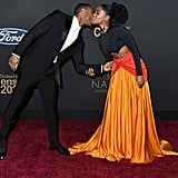 Michael B. Jordan and Janelle Monáe at the 2020 NAACP Image Awards