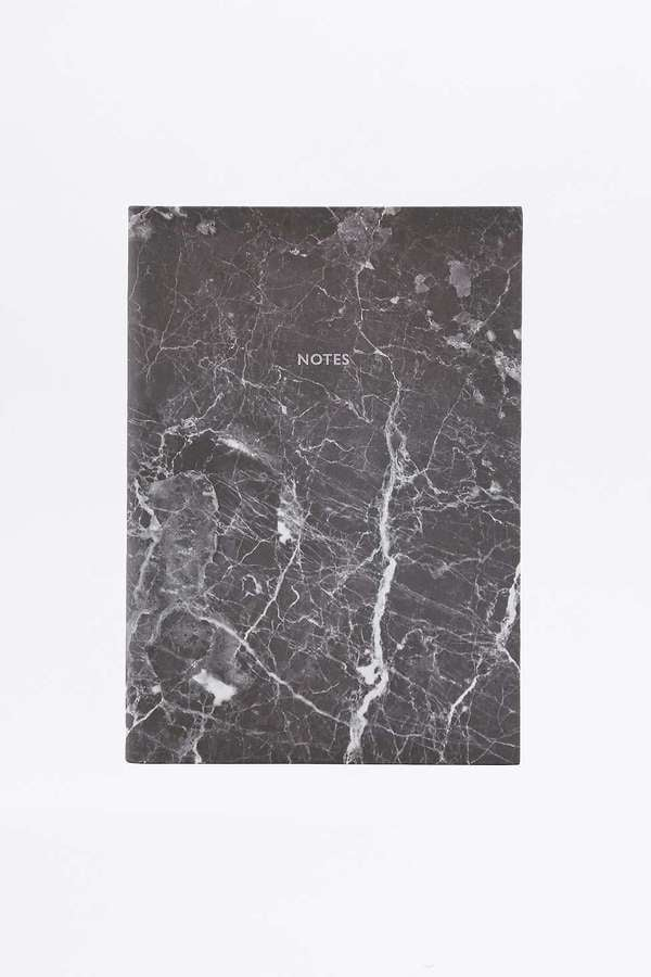 Uban Outfitters Black Marble Notebook