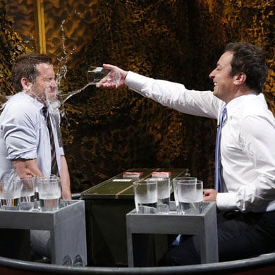 Ryan Reynolds & Jimmy Fallon Have Water Fight On Late Night