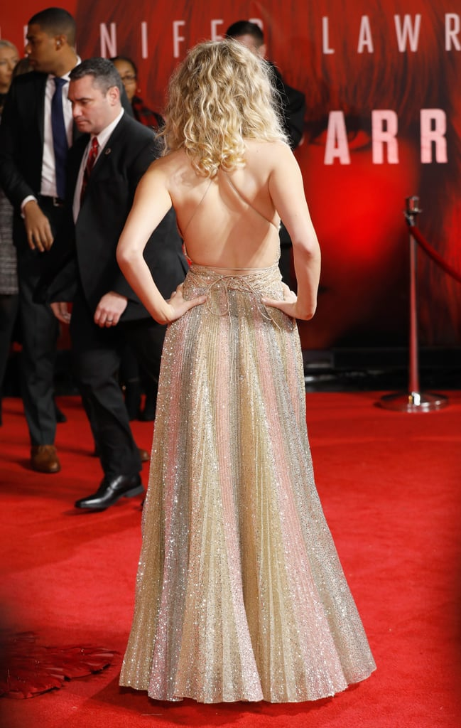 4d43c5cc Jennifer Lawrence Dior Dress at Red Sparrow London Premiere ...