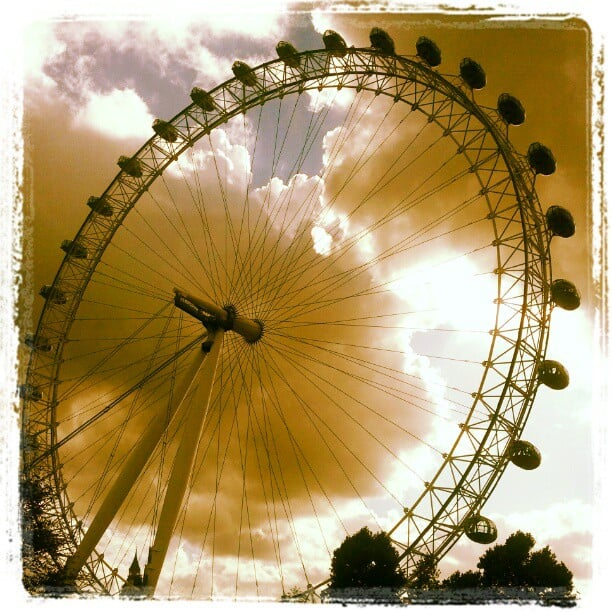Kerri Walsh captured a cool shot of the London Eye.  Source: Instagram user kerrileewalsh