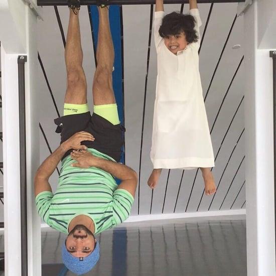 ولي عهد دبي يستمتع بوقته مع صديقه الصغير ماج