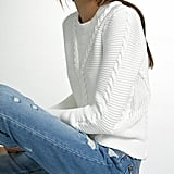 White + Warren Hand Braided Cotton Crewneck Sweater ($215)