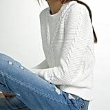 White + Warren Hand Braided Cotton Crewneck Sweater ($215)