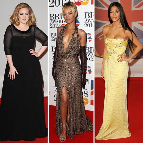 Pictures of Celebrity Red Carpet Style at the 2012 Brit Awards with Rihanna, Florence Welch, Adele & More!