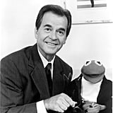 Dick Clark presented Kermit the Frog with the Amphibian American Music Achievement Award in July 1994.