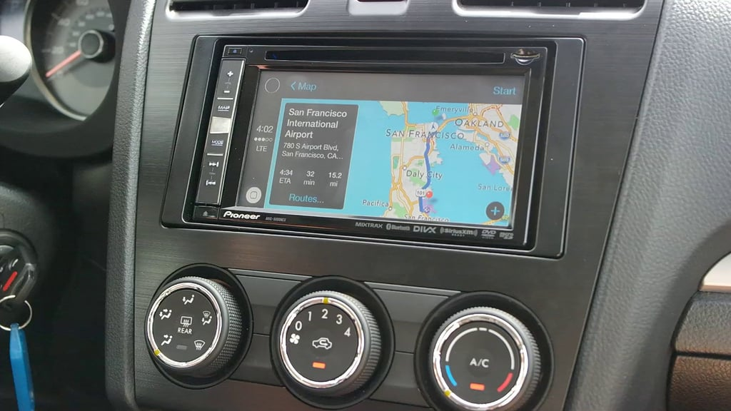 Watch Siri enable Apple CarPlay's Maps.