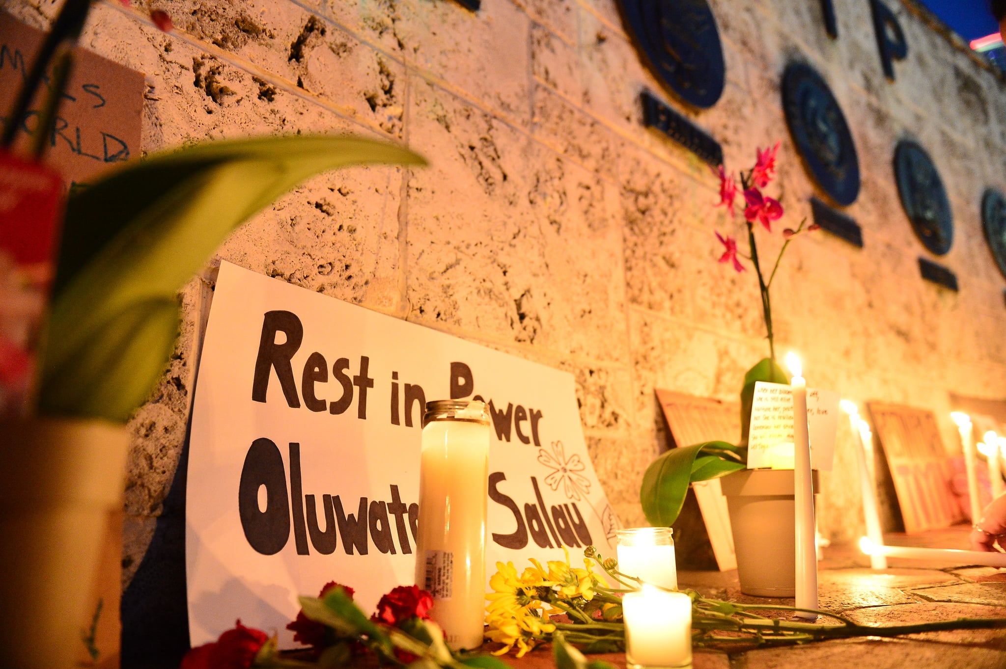 MIAMI, FL - JUNE 16: General view during during a candlelight vigil for 19-year-old activist Oluwatoyin