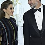 At an award ceremony in Madrid.