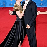 Anna Paquin and Stephen Moyer laughed together at the Emmys in August 2010.