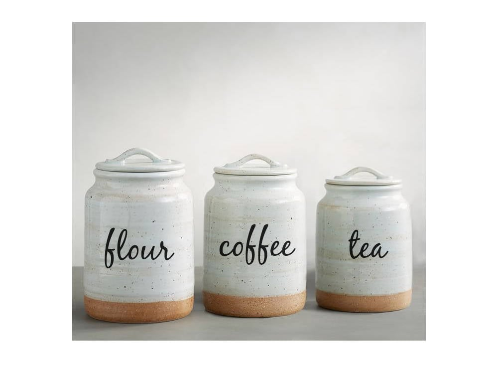 Kitchen Canisters For Four, Coffee, And Tea