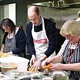 الأمير وليام يمازح حول إطلاق كتاب طبخ خلال زيارة جمعية The P