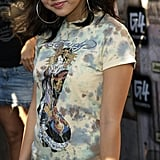 You Could Always Depend on Her for an Ed Hardy Tee and Big Hoop Earring Combo