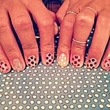 Hannah Bronfman was spotted in allover polka dots. Source: Instagram user hannahbronfman