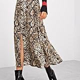 Shein Snake Skin Print Split Skirt