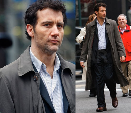 Clive Owen Films The International in New York City