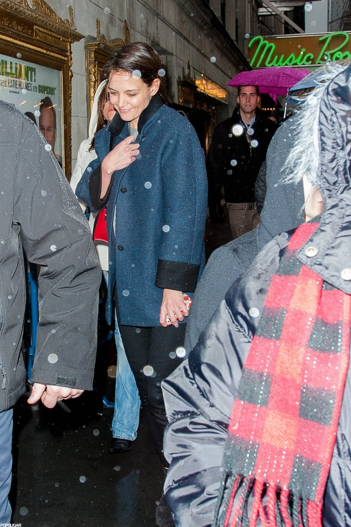 Katie Holmes headed to her Broadway show.