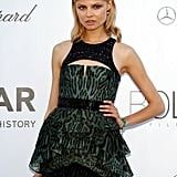 Magdalena Frackowiak played it cool in an exotic-printed gown.
